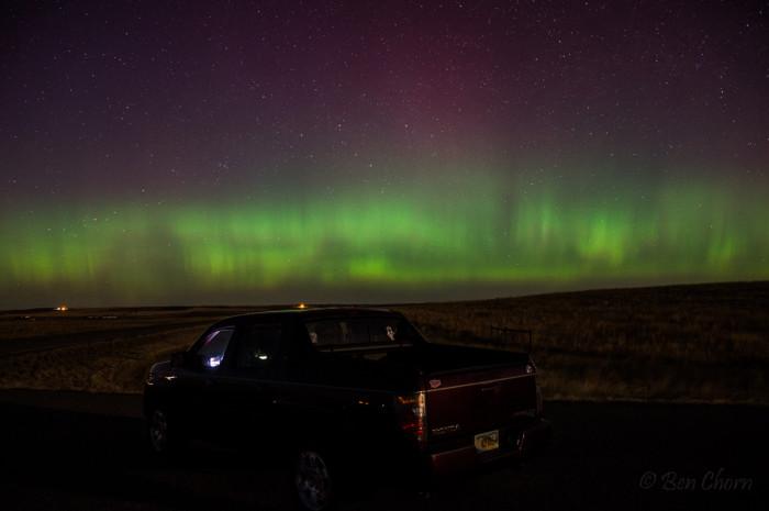 7. Aurora Borealis in Billings.