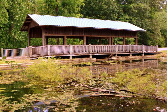 6) David Crockett State Park Covered Bridge