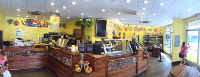 Day 2: Snack break at Lanikai Juice.