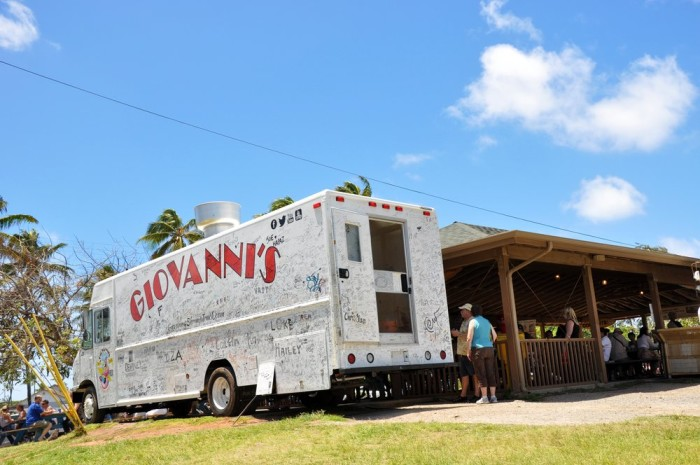 Day 3: Lunch at Giovanni's Shrimp Truck.