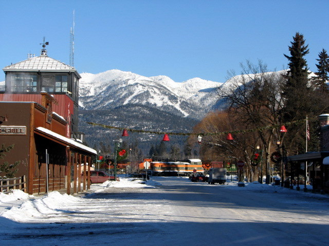 2. Downtown Whitefish in Winter