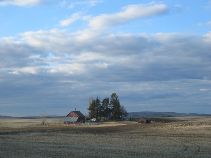 8. An Eastern Washington farmhouse and wide open spaces.