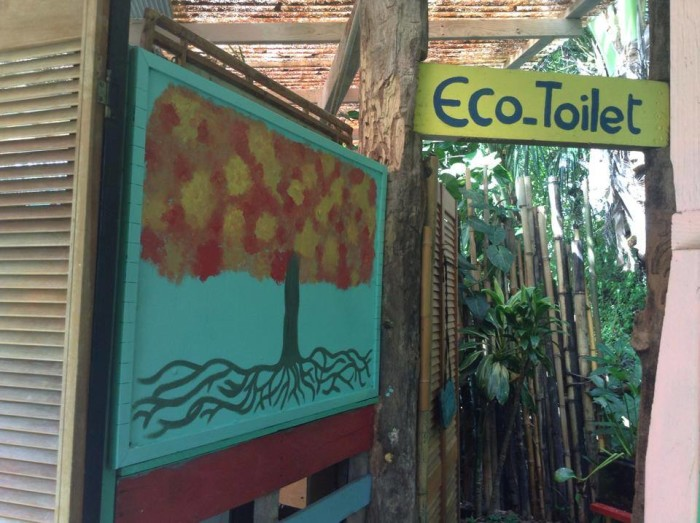 """Although these plants """"like to be peed on,"""" guests can also use the traditional flush eco-toilet."""