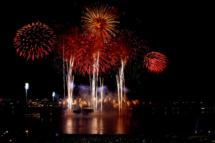 7. Fireworks and a parade