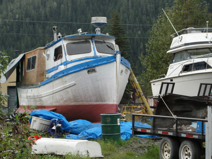 21. Congratulations, you're a real Alaskan; your lawn has officially turned into a boatyard.