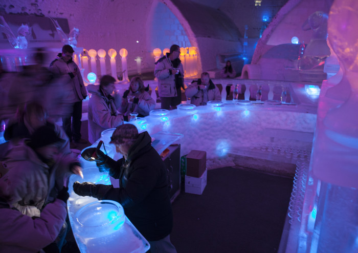 14. Chill at the ice bar.