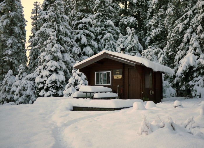 """4. Log Cabin Living: Because nothing screams """"rugged Alaskan"""" like a cabin in the woods."""