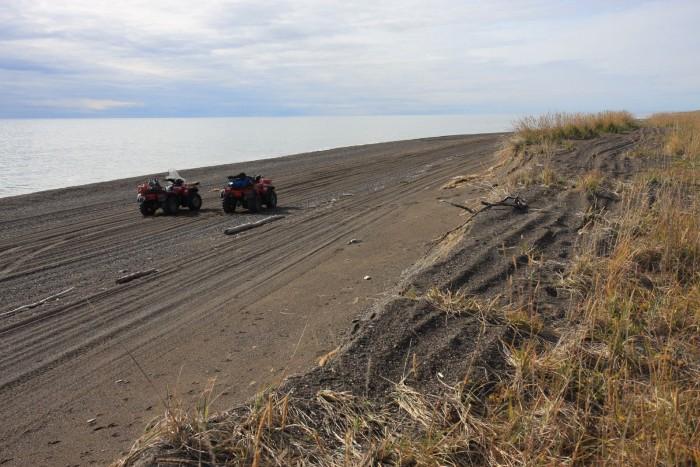 17. Go four-wheeling on the beach.