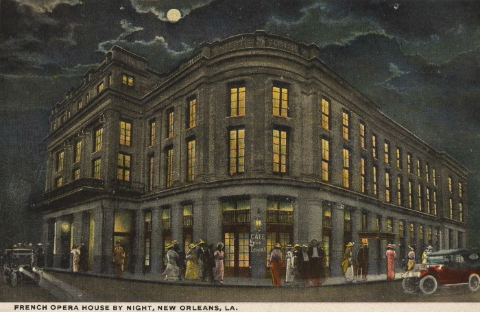 3. The French Opera House in New Orleans was the center for social life in the city between the Civil War and WWI.