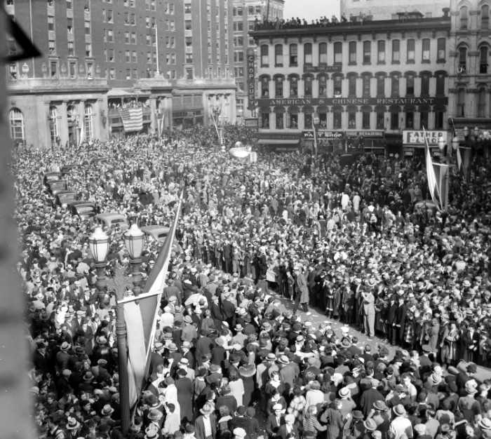 6. Downtown Grand Rapids while President Franklin Delano Roosevelt was in town.