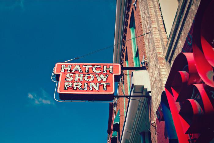 7) Hatch Show Print