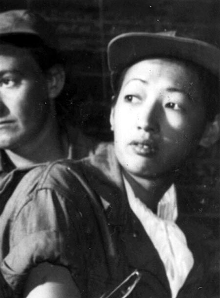 """1. Chinese-American Hazel Ying Lee was a """"calm and fearless"""" pilot who flew for the U.S. Air Force in WWII. During one forced landing in Kansas, she was chased by a farmer with a pitchfork who warned his neighbors of the invading Japanese. Lee stood her ground and eventually the farmer backed off."""