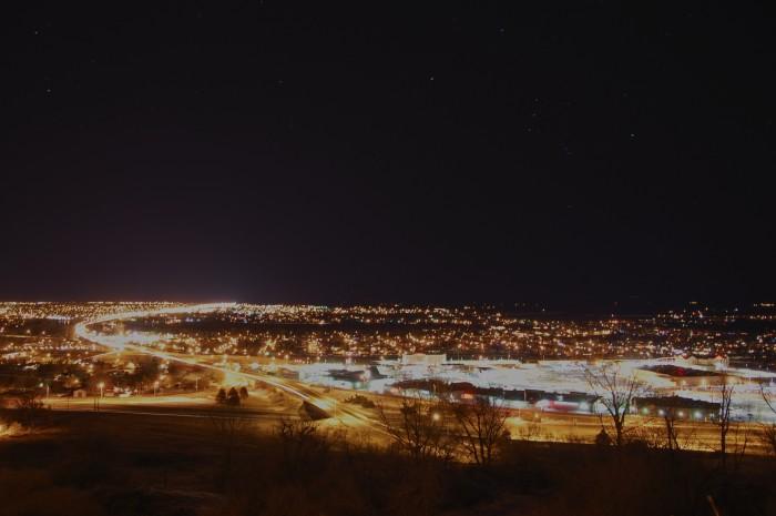 4. Night falls on Great Falls.