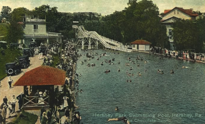 5. This is a swimming pool at Hershey Park in the early 1920s.