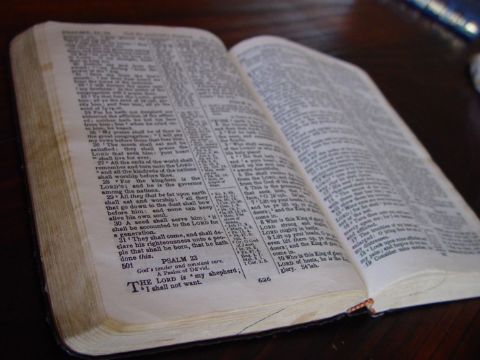 7. To keep bad spirits from your house, read the bible backwards.