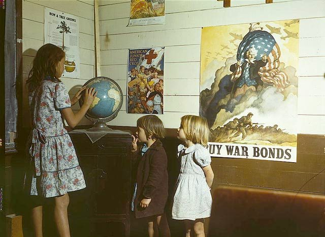 6. War propaganda was everywhere - even in elementary schools like this one in San Augustine County.