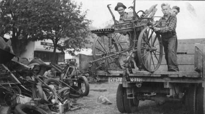 4. The junkyard in Salem, 1942.
