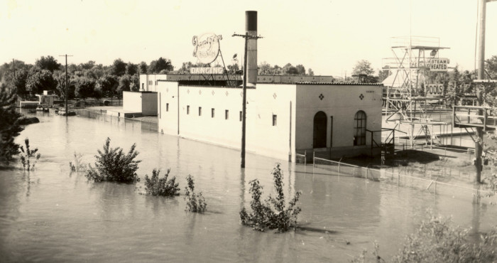 5. The Jantzen Beach Amusement Park in Portland after the flood in 1948.