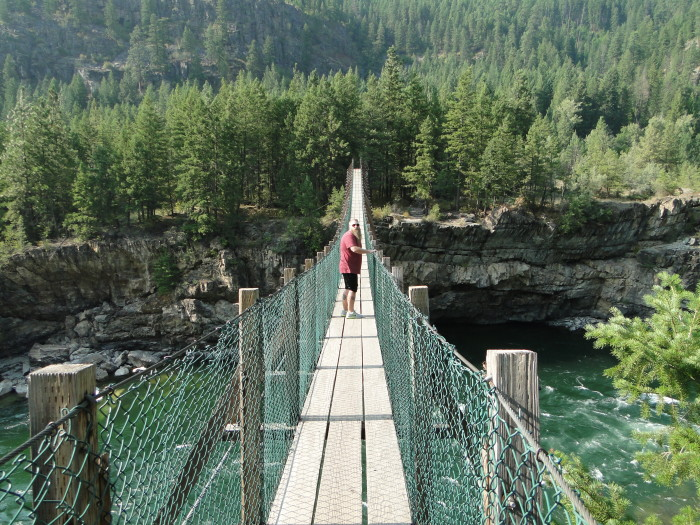 Did pics of swinging bridge in montana