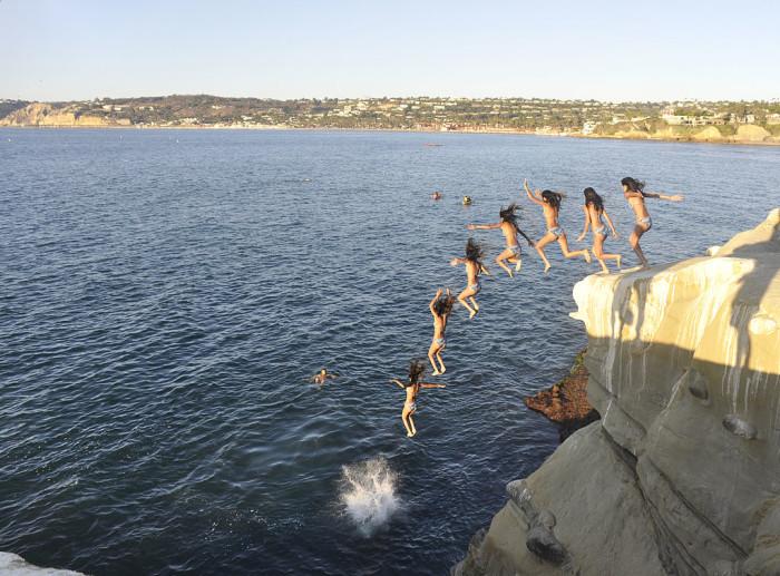 7. Cliff Jumping in La Jolla