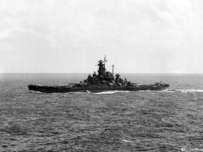 3. USS Alabama (BB-60), the Pacific (prior to being docked in Mobile), circa 1944