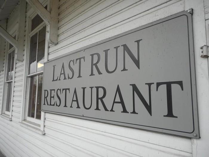 5. Grab a bite at the Last Run Restaurant.