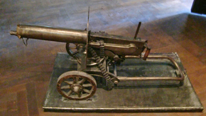 9. The inventor of the Maxim gun first called Maine his home.