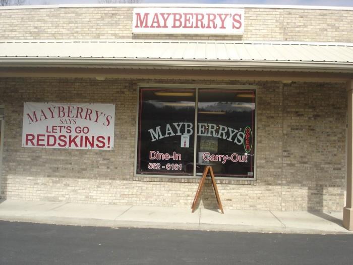 7. Mayberry's Restaurant, Hurricane