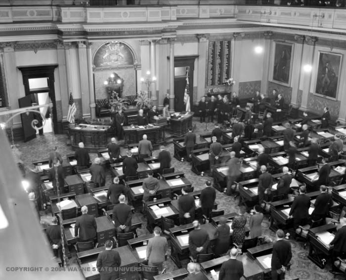 11. The Michigan Legislature in session.