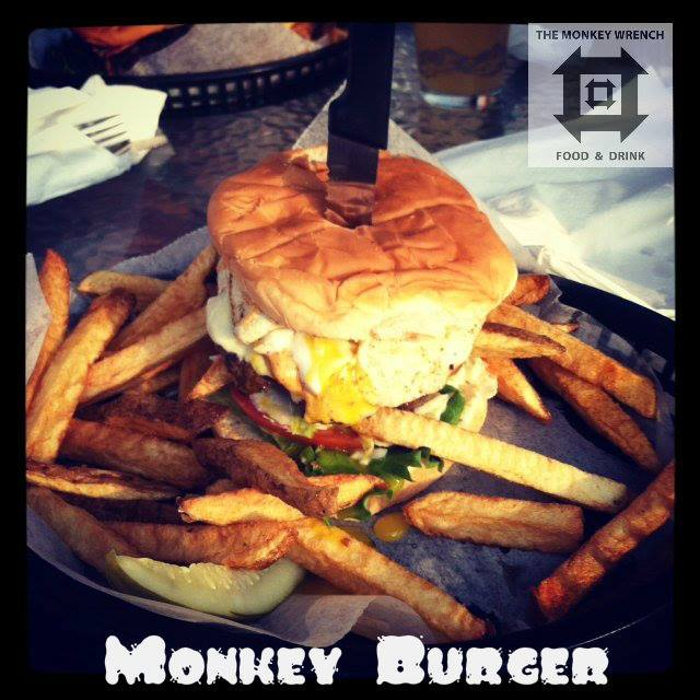 Monkey Wrench Monkey Burger.