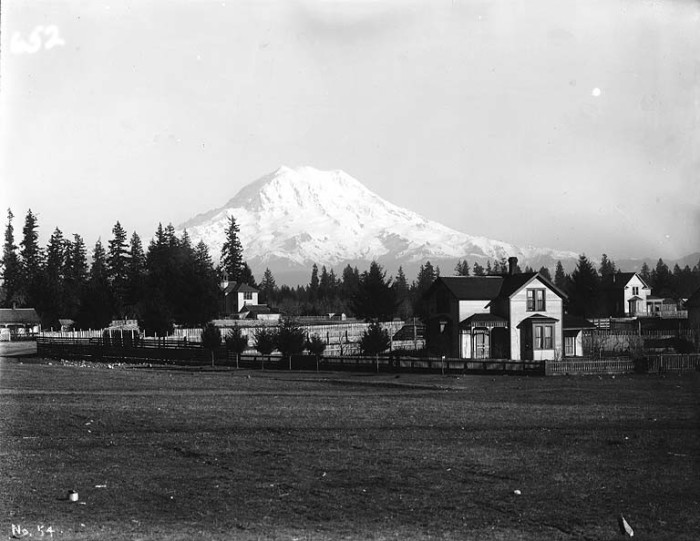 4. Rainier has always been remarkable to see in the distance too. Here was a shot of the mountain from Spanaway, taken in 1907.