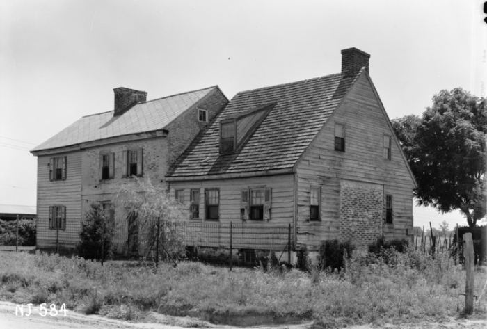 13. A photo of the William Wheaton House in Mercer County, taken by the Historic American Buildings survey circa 1939.
