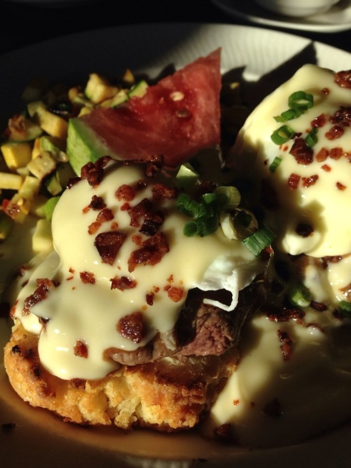 8. Filet Mignon Eggs Benedict - Cafe at Adele's