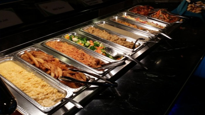 6. Feeling hungry? Tackle an all-you-can-eat buffet.