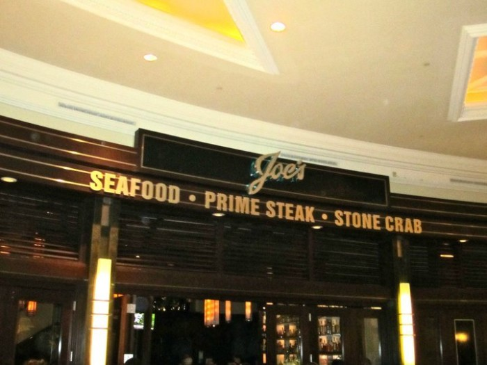 Dinner: Joe's Seafood, Prime Steak & Stone Crab - 3500 S Las Vegas Blvd, Las Vegas, NV 89109 (The Forum Shops at Caesars Palace)