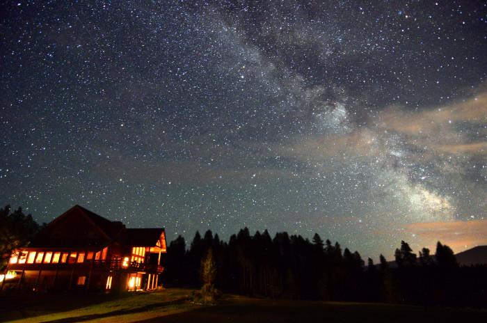 8. The night sky.