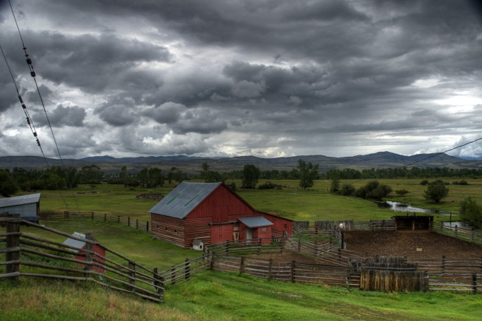 7. There's no better place to watch  a storm pass by than rural Montana.