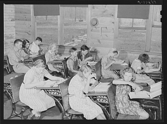 4. Other classes were overcrowded one-room schools.