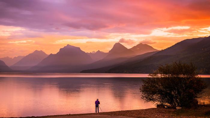 7. Sunrise at Lake McDonald