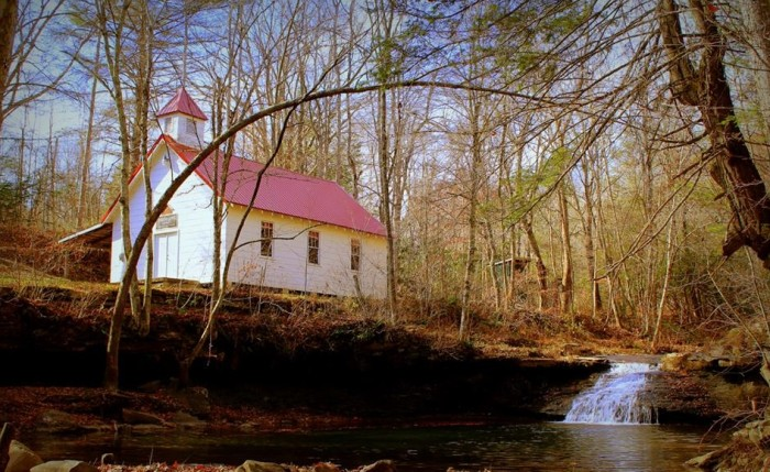 10. Waterfall beside Rhoda Chapel Church