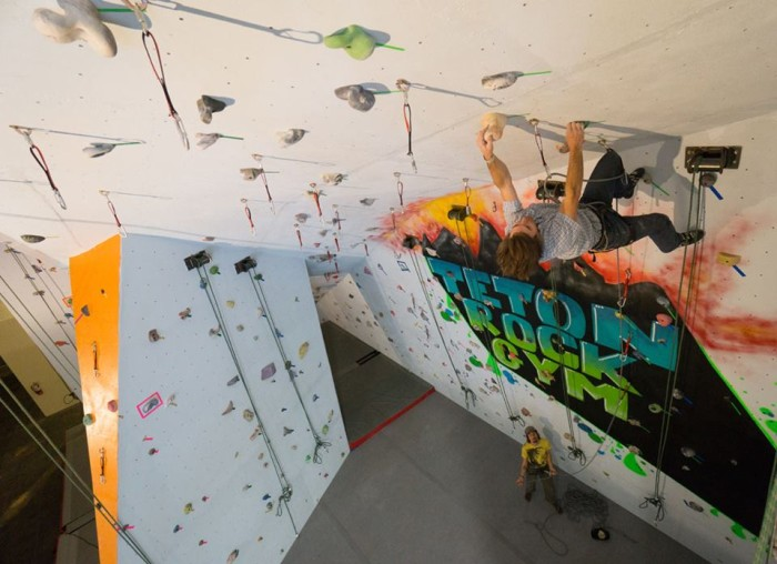 12. Ascend to new heights at an indoor rock climbing wall.