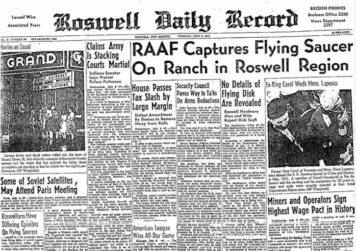 1. The Roswell Incident, where it all began.