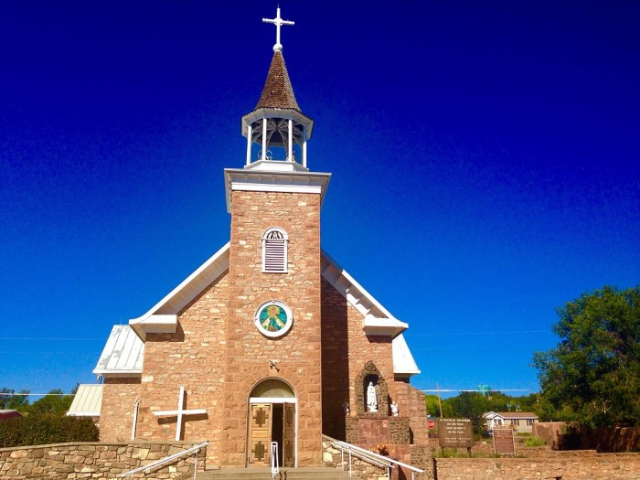 2. Pecos, population 1392.