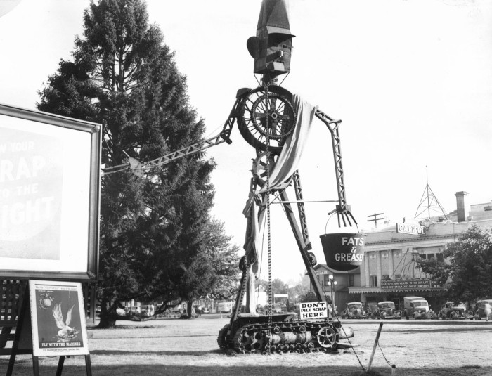 10. Salem was once the home to Scrappo, a scrap metal sculpture created as part of the WWII scrap drive, 1942.