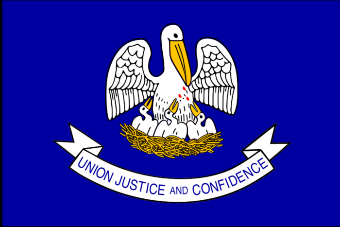 10. The image on the Louisiana state flag is actually a medieval myth.