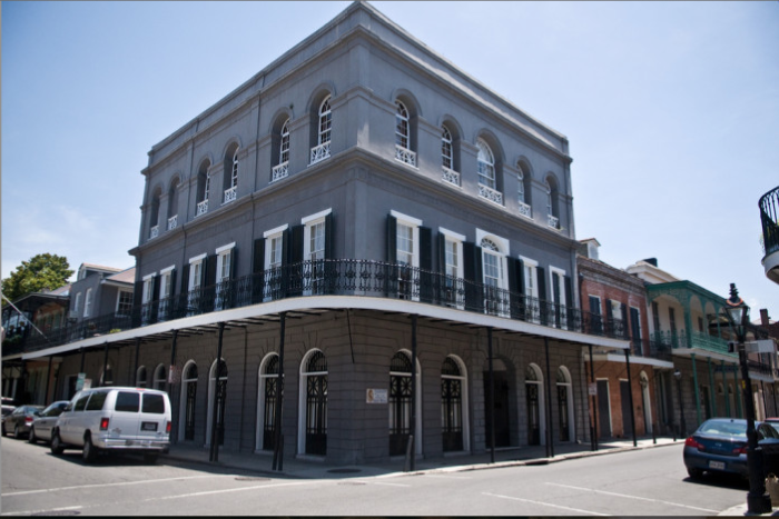 If you are taking a stroll in the French Quarter down Royal Street, you may not even notice this historic building.