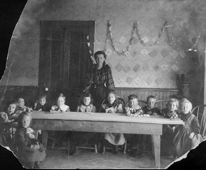 2. Chadron  - 1893. Miss Bess O'Linn was Chadron's first kindergarten teacher.