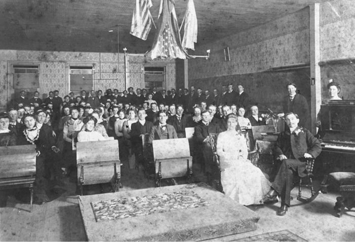 4. Northwestern Business College - undated. Students at the business college pose for a group photo.