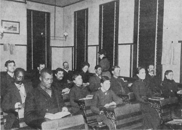 6. Cass Street School, Omaha - undated. Adults, children, immigrants, and African Americans attended night school here.