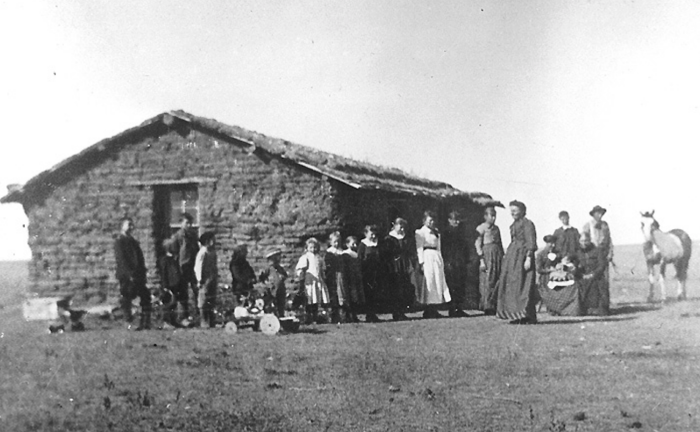 7. Frank Homestead school, ten miles from Hay Springs - undated. The students at this school only attended thee months out of the year.